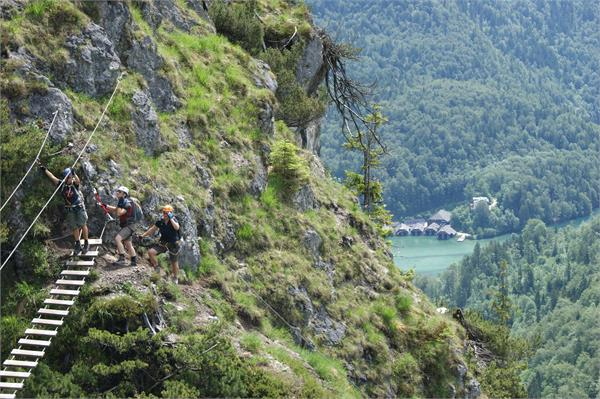 Der Grünstein Klettersteig