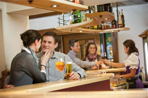 The restaurant bar